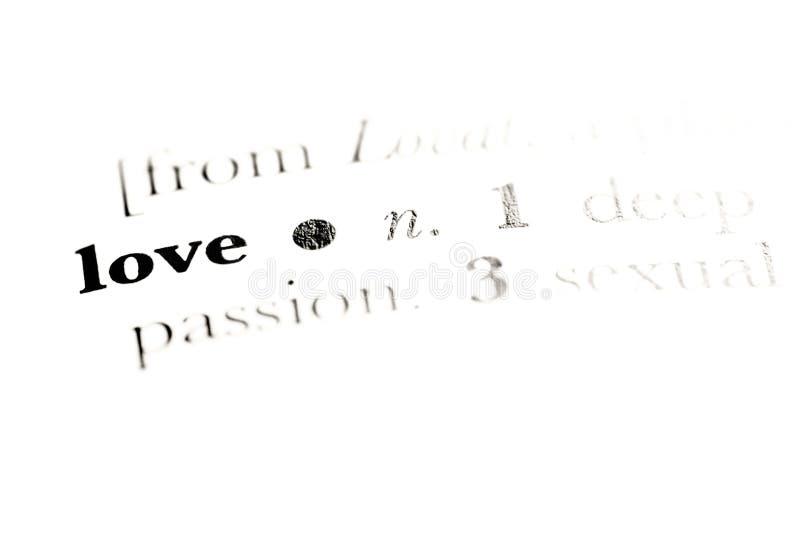 Definição do amor imagens de stock