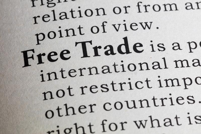 Definição do comércio livre fotos de stock