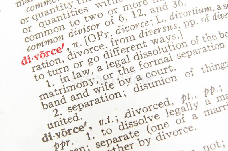 Definição do divórcio - termo legal fotos de stock royalty free