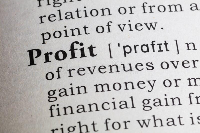 Definição do lucro imagem de stock royalty free