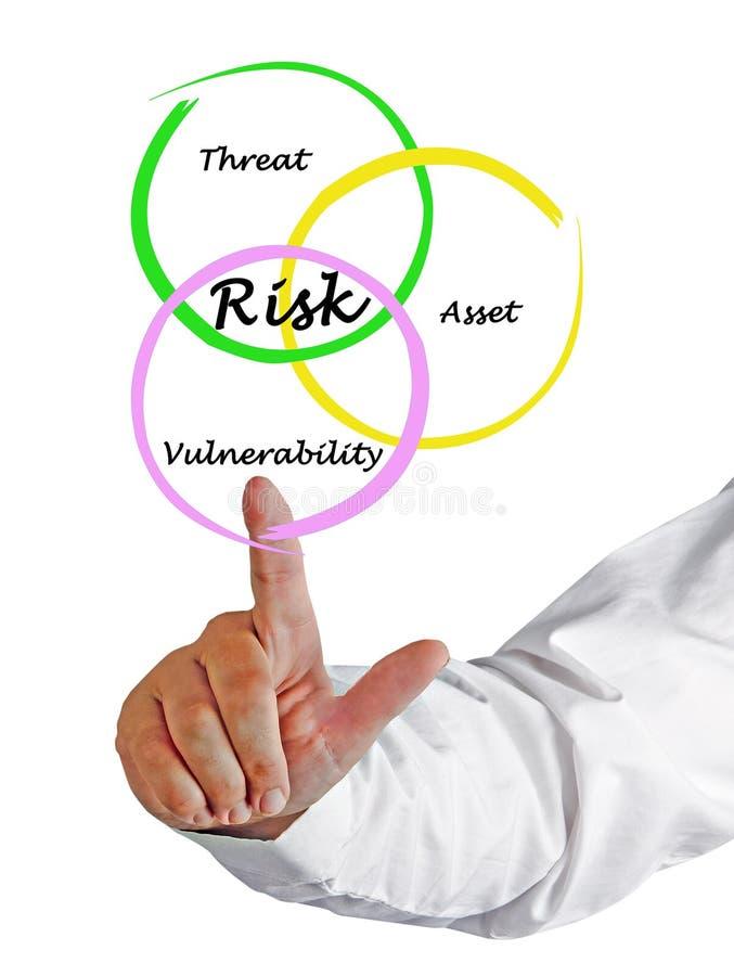 Definição do risco fotografia de stock