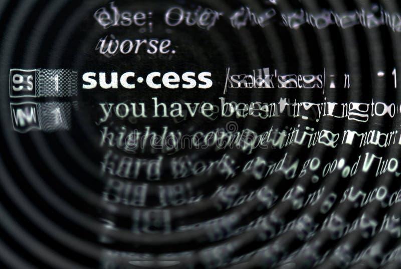 Definição do sucesso no close-up foto de stock royalty free