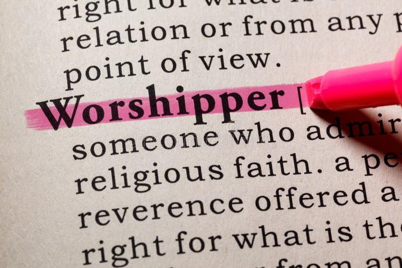 Definição do worshipper fotos de stock