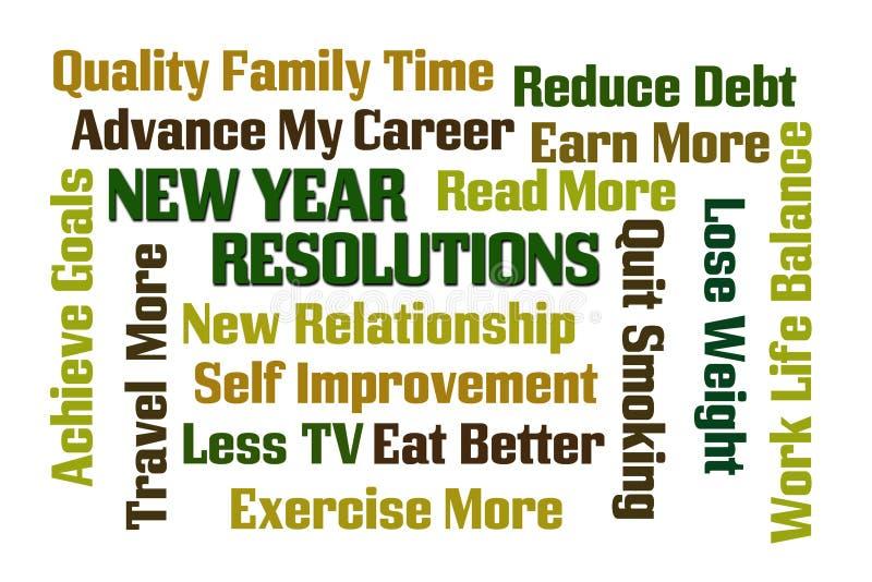 Definições do ano novo ilustração stock