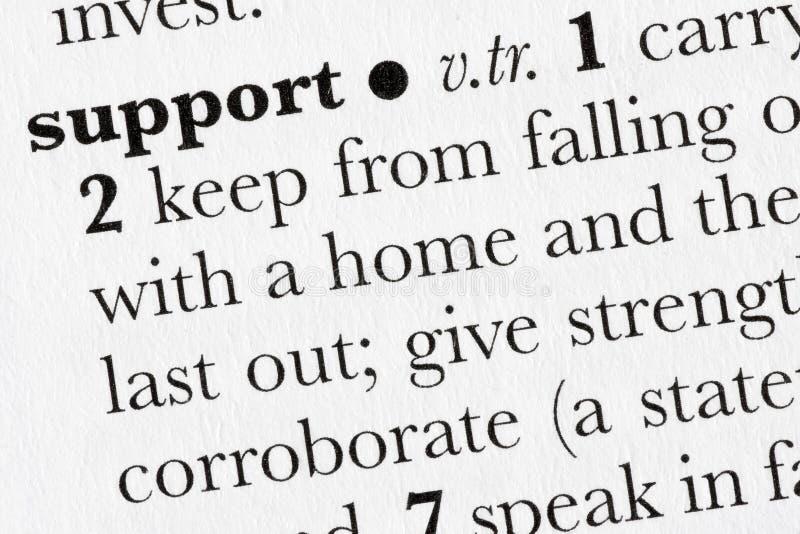 Defini do dicionário de palavra da sustentação imagens de stock royalty free
