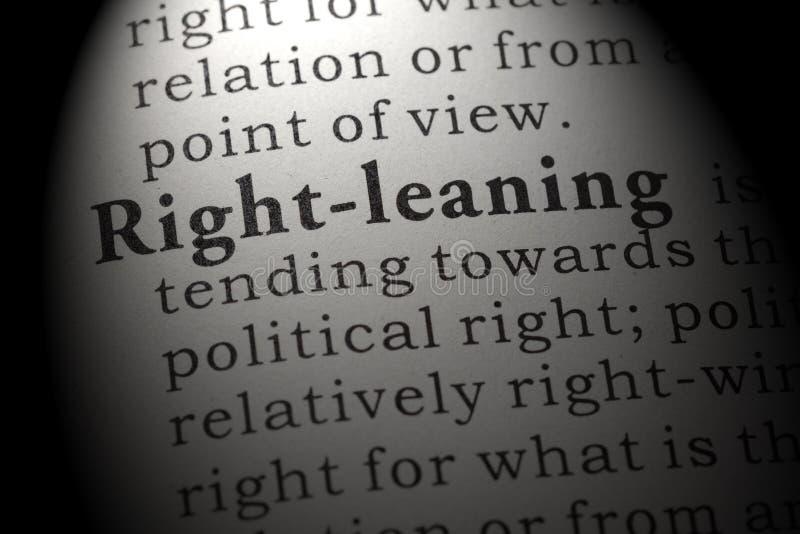 Definición de derecho-inclinarse fotos de archivo libres de regalías