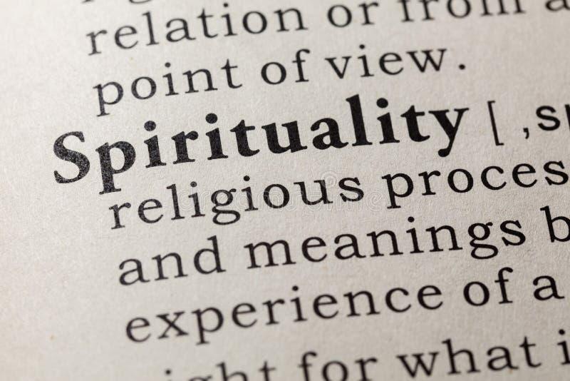 Definición de la espiritualidad foto de archivo libre de regalías