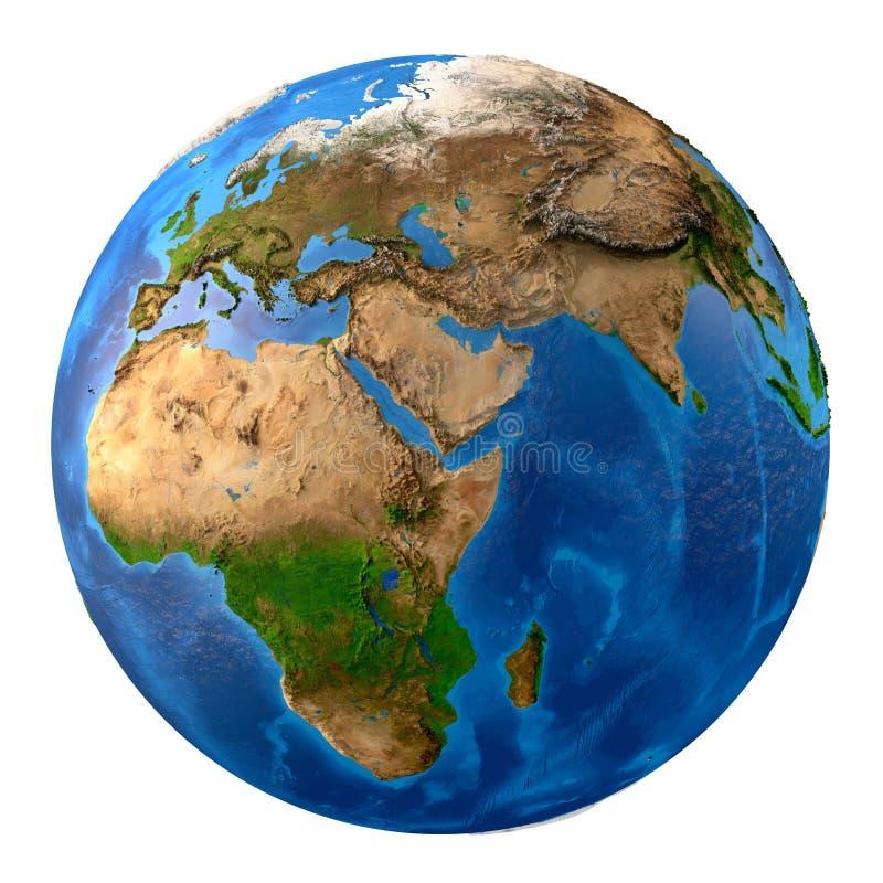 Definición de la tierra del planeta alta stock de ilustración