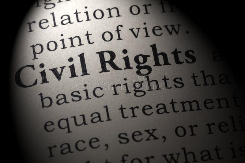 Definición de las derechas civiles foto de archivo libre de regalías