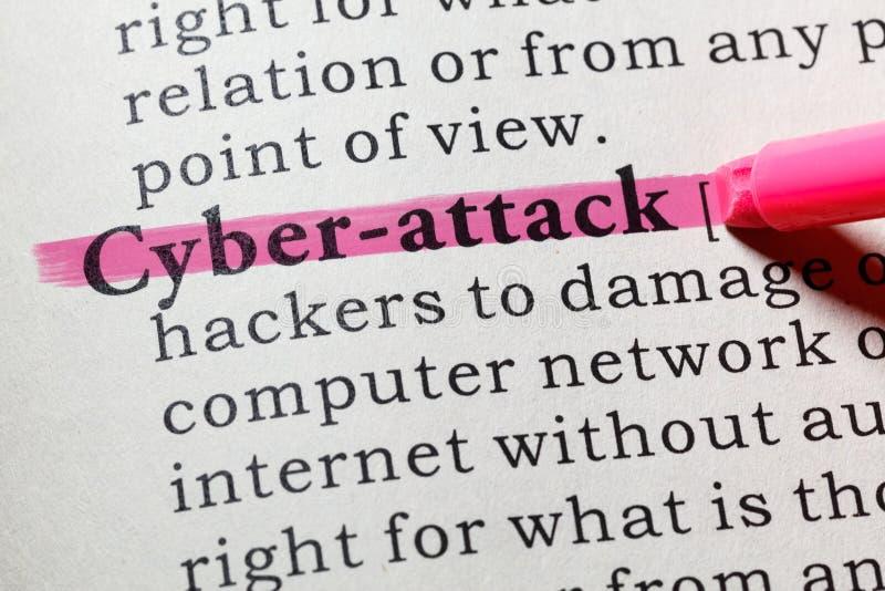 Definición del cibernético-ataque foto de archivo libre de regalías