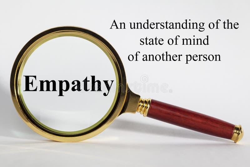Definición del concepto de la empatía fotografía de archivo