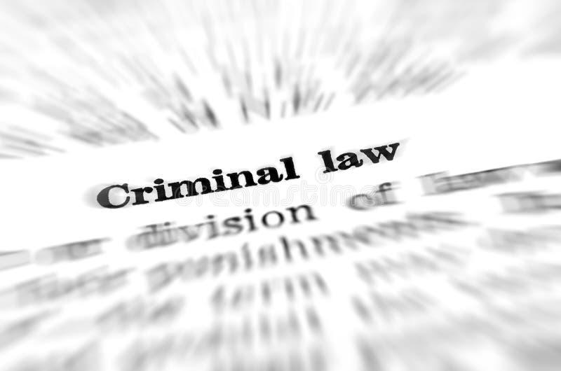 Definición del derecho penal foto de archivo libre de regalías