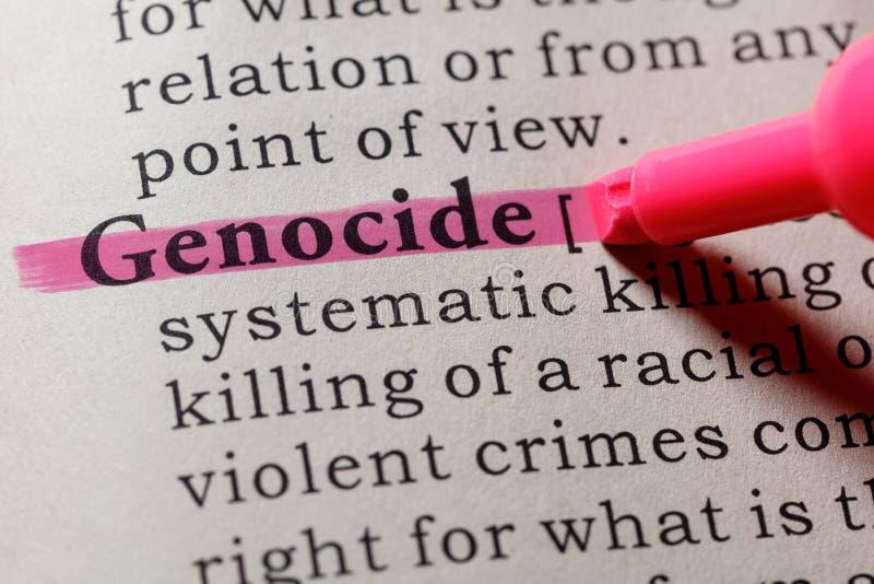 Definición del genocidio foto de archivo