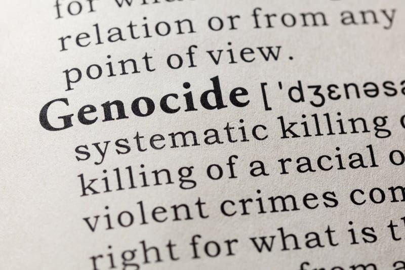 Definición del genocidio imagen de archivo