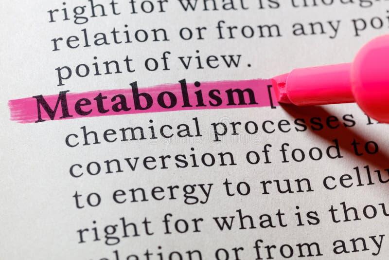 Definición del metabolismo fotografía de archivo libre de regalías