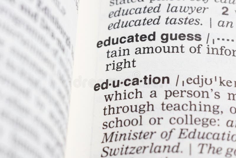 definici edukacja zdjęcie stock