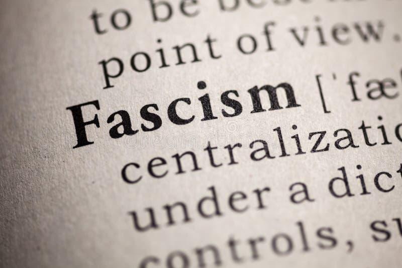 Definici?n del fascismo de la palabra imagenes de archivo