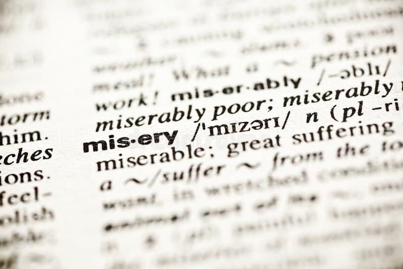 definici słownika niedoli winieta obrazy royalty free