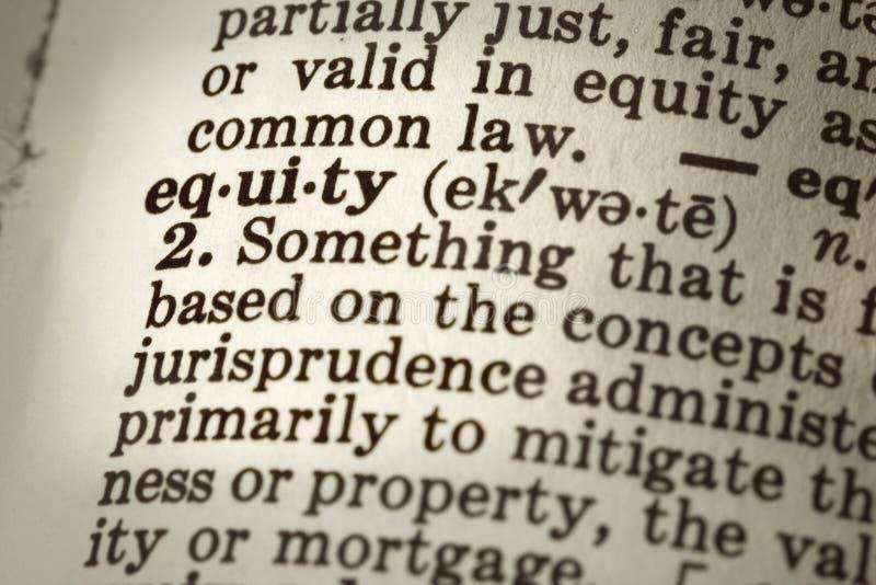 definici sprawiedliwość zdjęcie royalty free