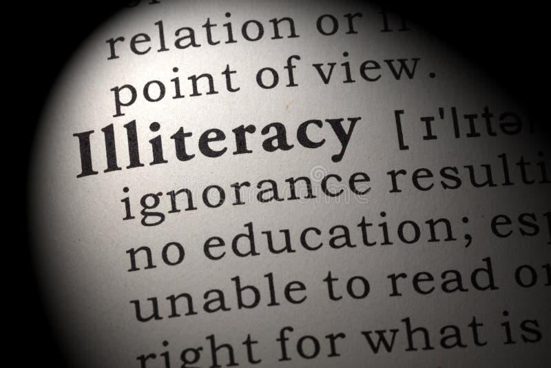 Definicja analfabetyzm fotografia royalty free