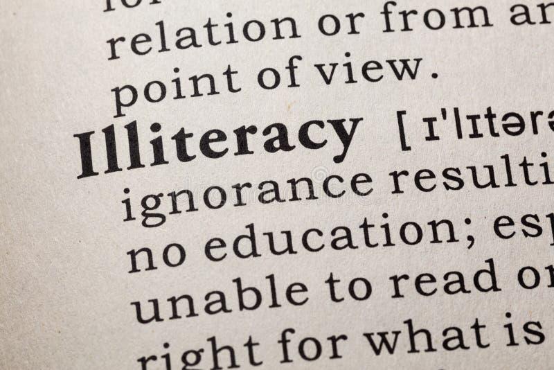 Definicja analfabetyzm zdjęcia royalty free