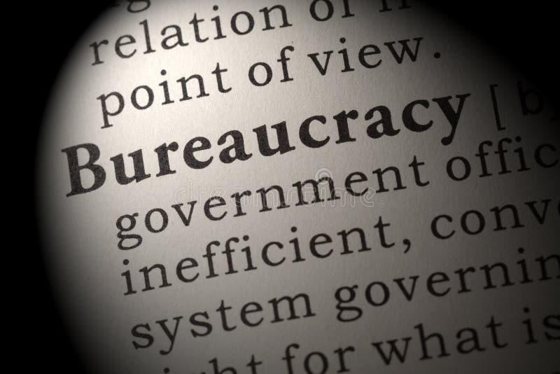 Definicja biurokracja zdjęcie royalty free