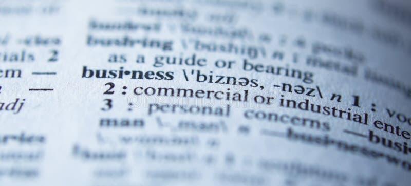 definicja biznesowy słownik fotografia royalty free