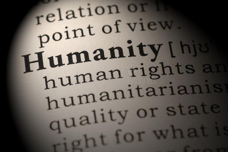 Definicja ludzkość zdjęcie stock