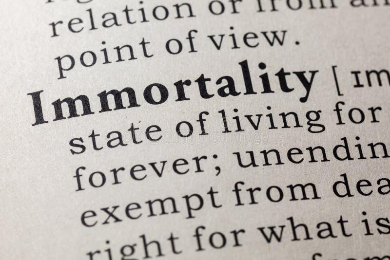 Definicja nieśmiertelność obrazy royalty free