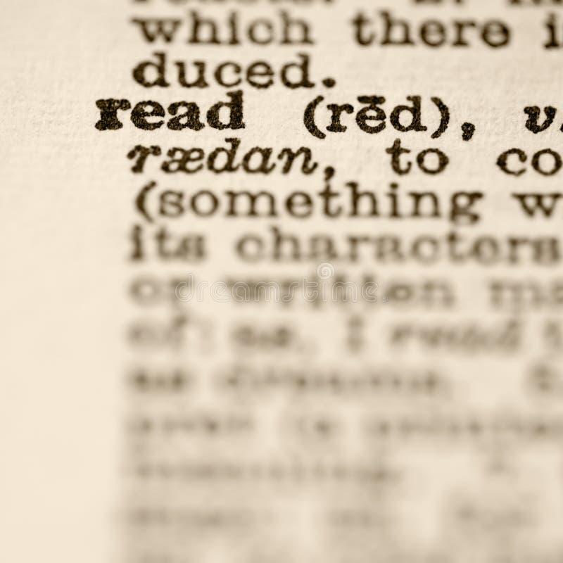 definicja odczytana obraz royalty free
