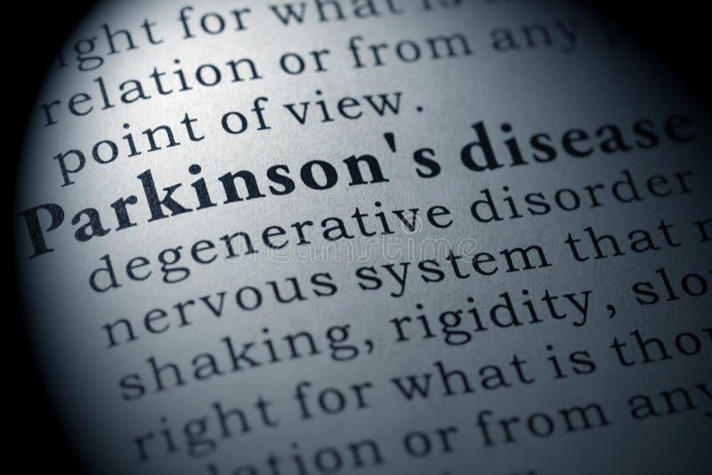 Definicja Parkinson ` s choroba obraz royalty free