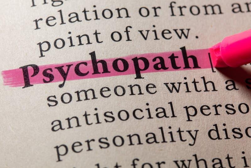 Definicja psychopata obraz royalty free