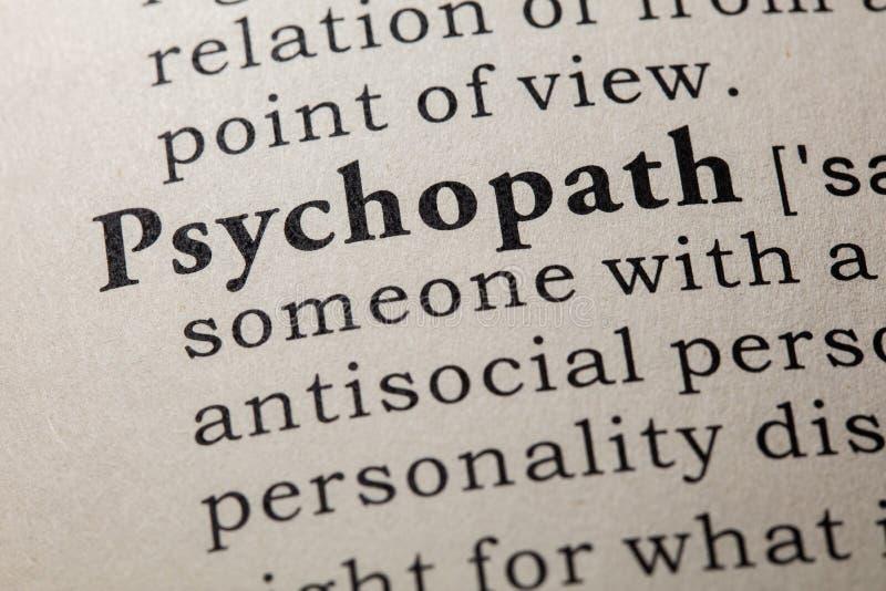 Definicja psychopata zdjęcia stock