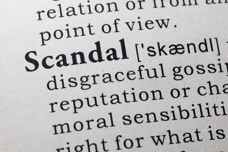 Definicja skandal zdjęcie stock