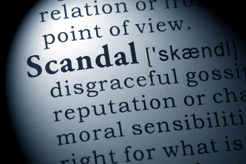 Definicja skandal obrazy stock