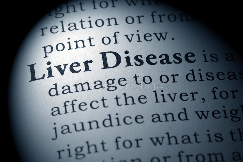 Definicja wątrobowa choroba zdjęcie stock