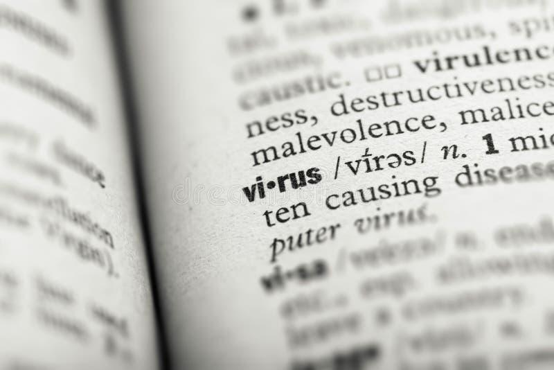 Definicja wirusów w słowniku zdjęcia royalty free