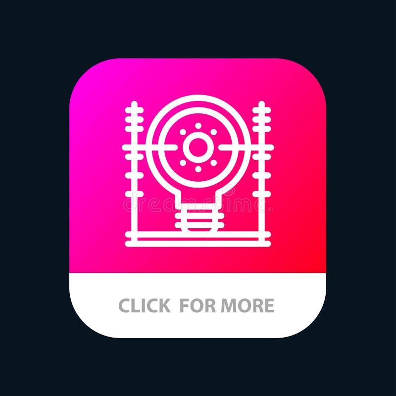 Definiera energi, teknik, utvecklingen, mobil Appknapp för makt Android och IOS-linje version stock illustrationer