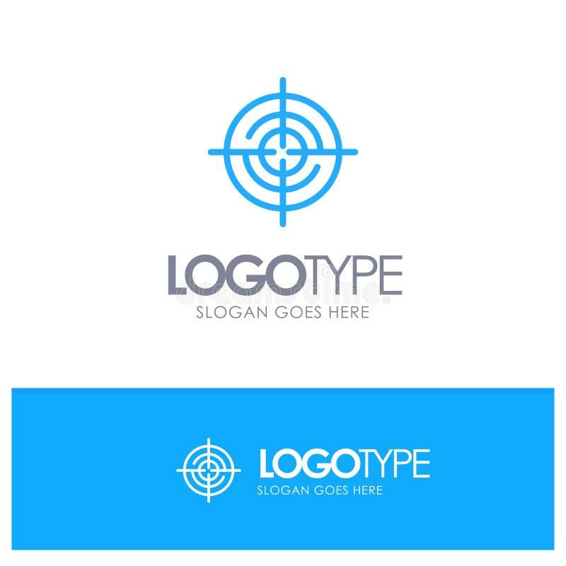 Definiera Gps, läge, den blåa översikten Logo Place för navigering för Tagline stock illustrationer