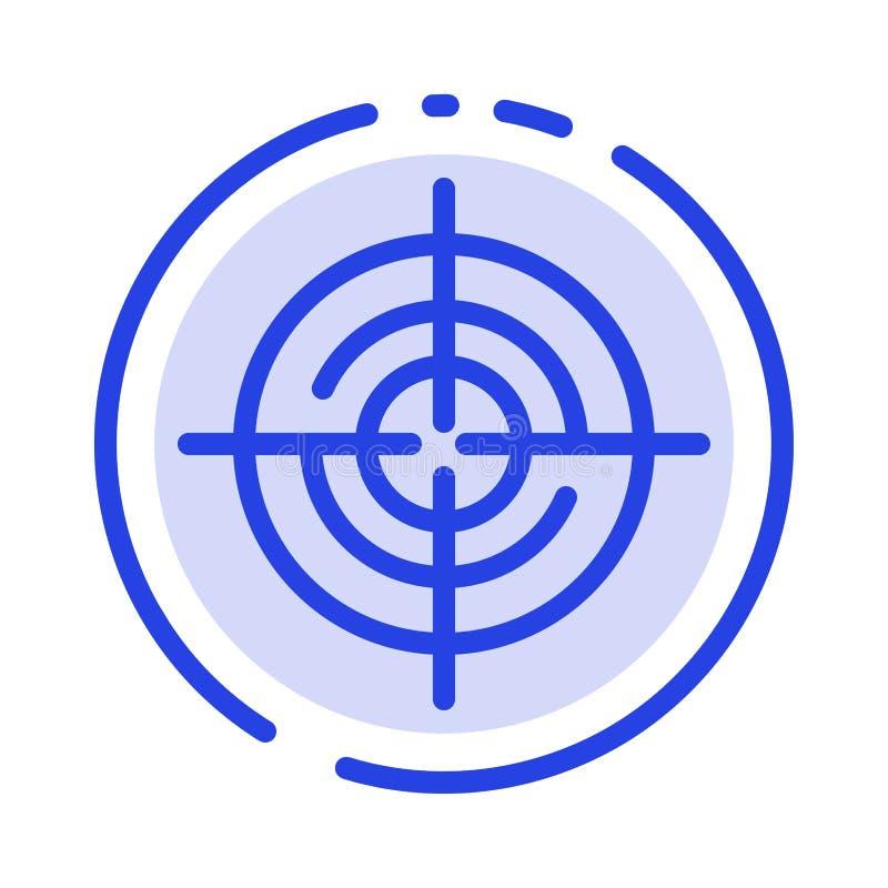 Definiera Gps, läge, den blåa prickiga linjen linjen symbol för navigering stock illustrationer