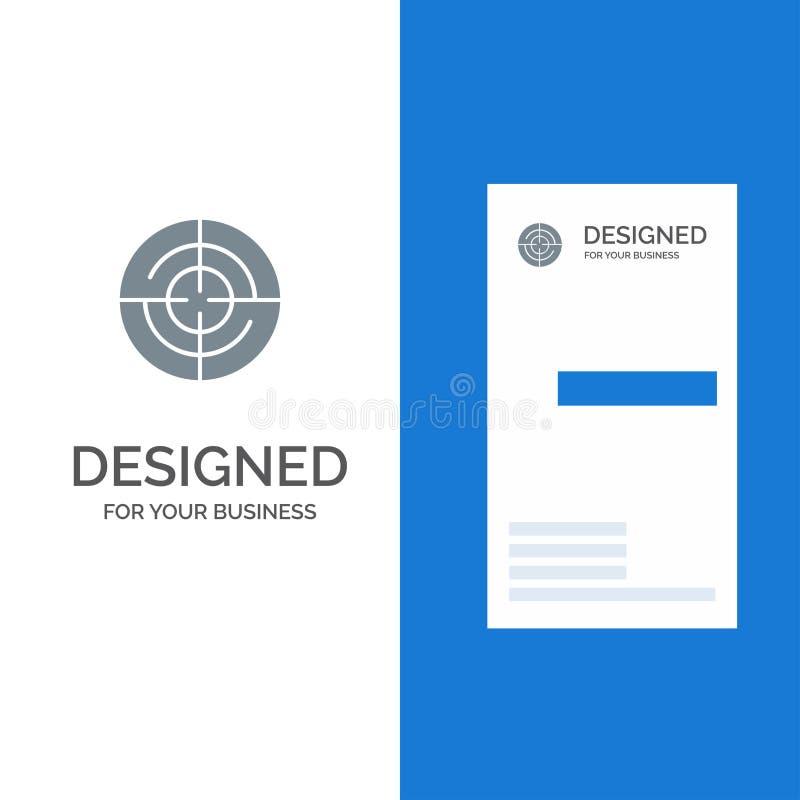 Definiera, Gps, läge, navigering Grey Logo Design och mallen för affärskort royaltyfri illustrationer