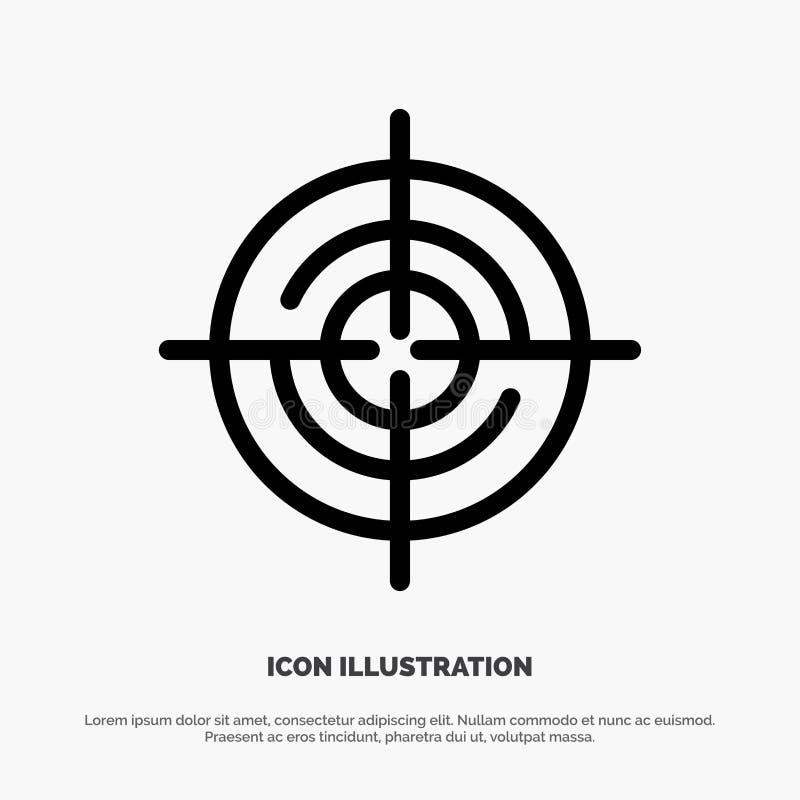 Definiera Gps, läge, navigeringlinjen symbolsvektor stock illustrationer