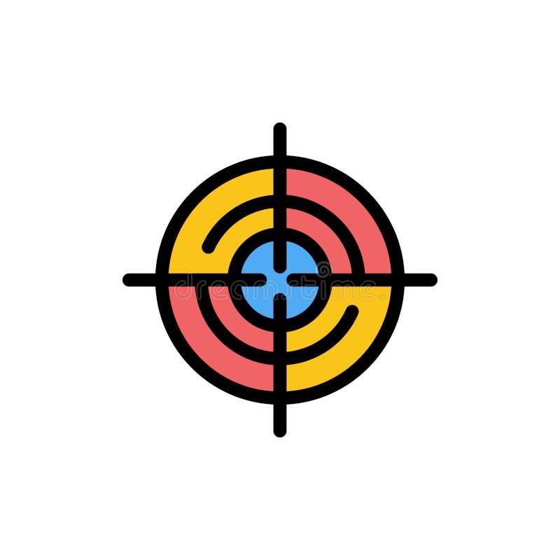 Definiera Gps, läge, plan färgsymbol för navigering Mall för vektorsymbolsbaner royaltyfri illustrationer