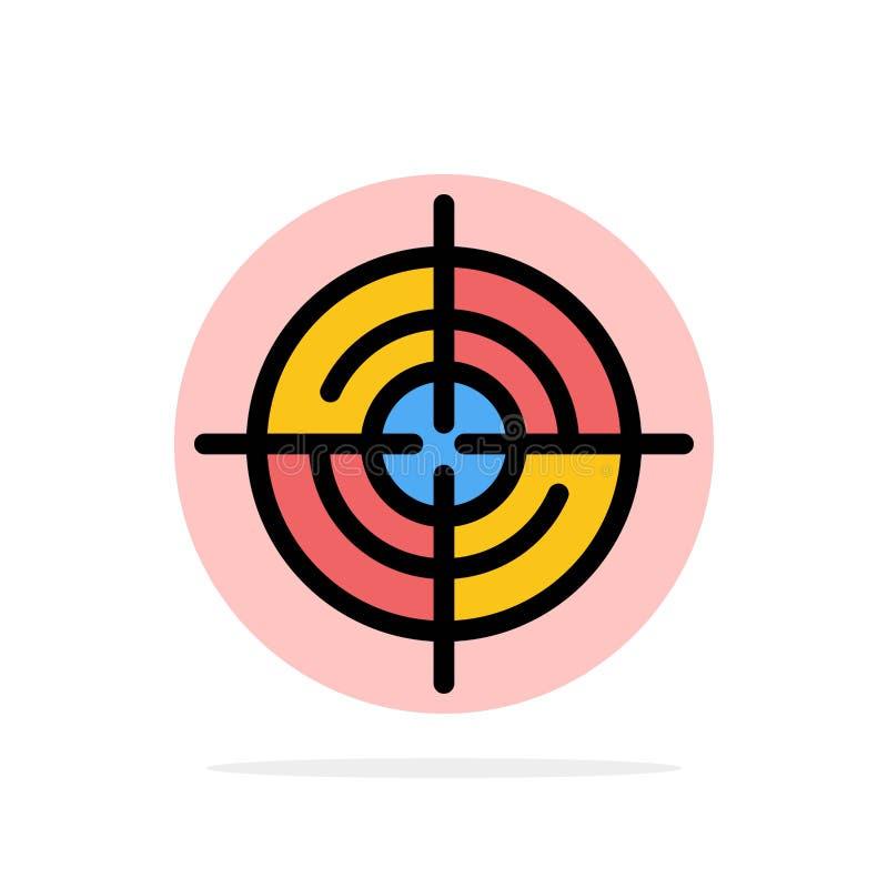 Definiera Gps, läge, symbol för färg för bakgrund för navigeringabstrakt begreppcirkel plan stock illustrationer