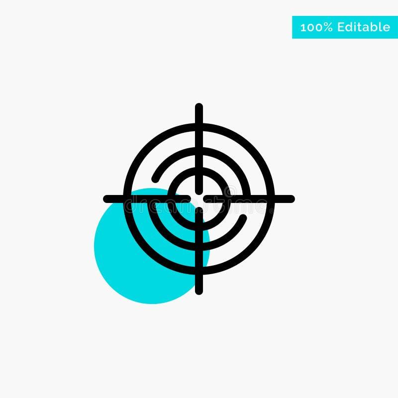 Definiera Gps, läge, symbol för vektor för punkt för cirkel för navigeringturkosviktig vektor illustrationer
