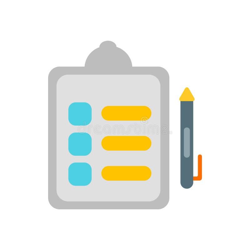 Definindo o vetor do ícone isolado no fundo branco, definindo o sinal ilustração stock