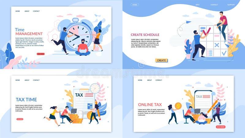Definir Letra Fiscal On-line de Banner Informativo ilustração royalty free