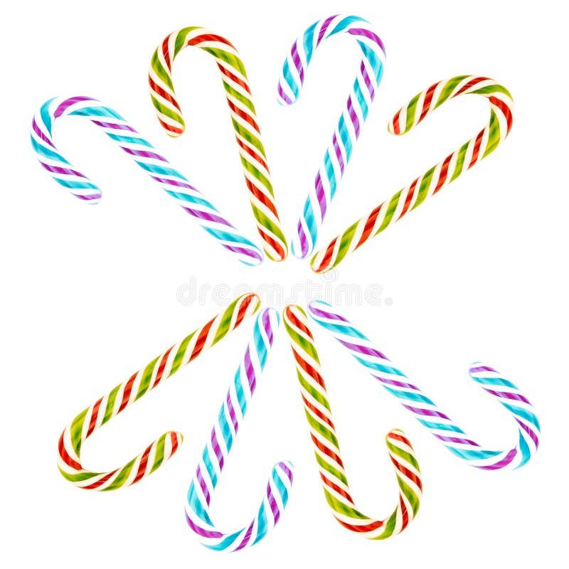 Definir o desenho do círculo azul violeta verde de Natal de Natal num fundo branco imagem de stock