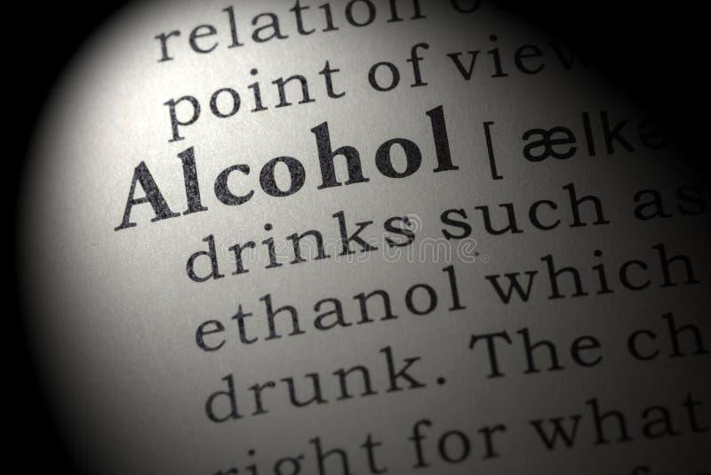 Definitie van alcohol stock afbeeldingen