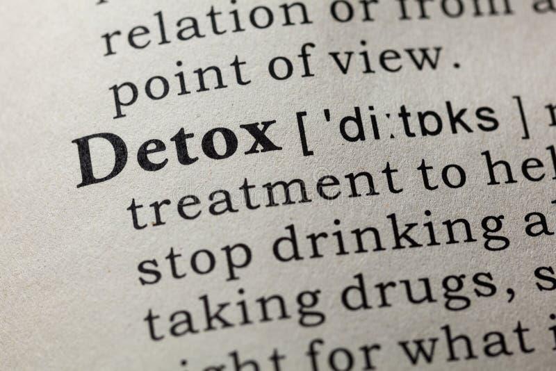 Definitie van detox royalty-vrije stock foto's